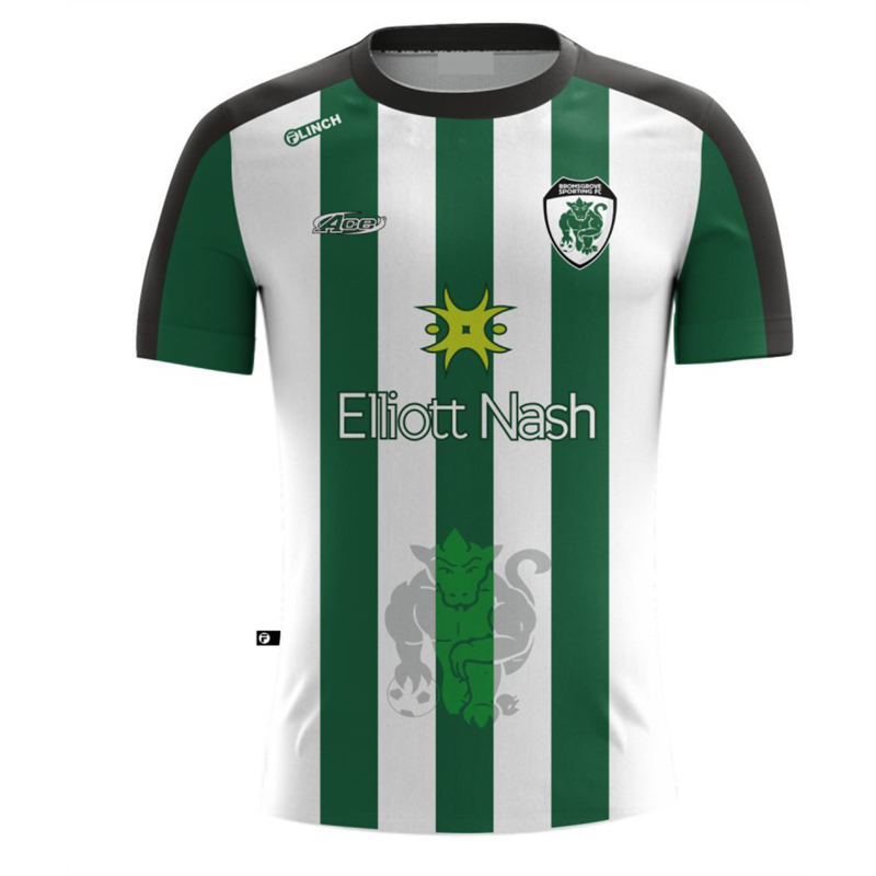 Away replica jersey for 2018/19 season. Short sleeve design in sports polyester performance fabric, all logos printed into the material. Striking design available in full range of sizes from kids to adults.