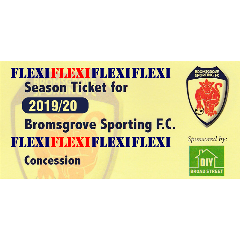 Flexi Season Ticket - Concessions (over 65's/students with student card)