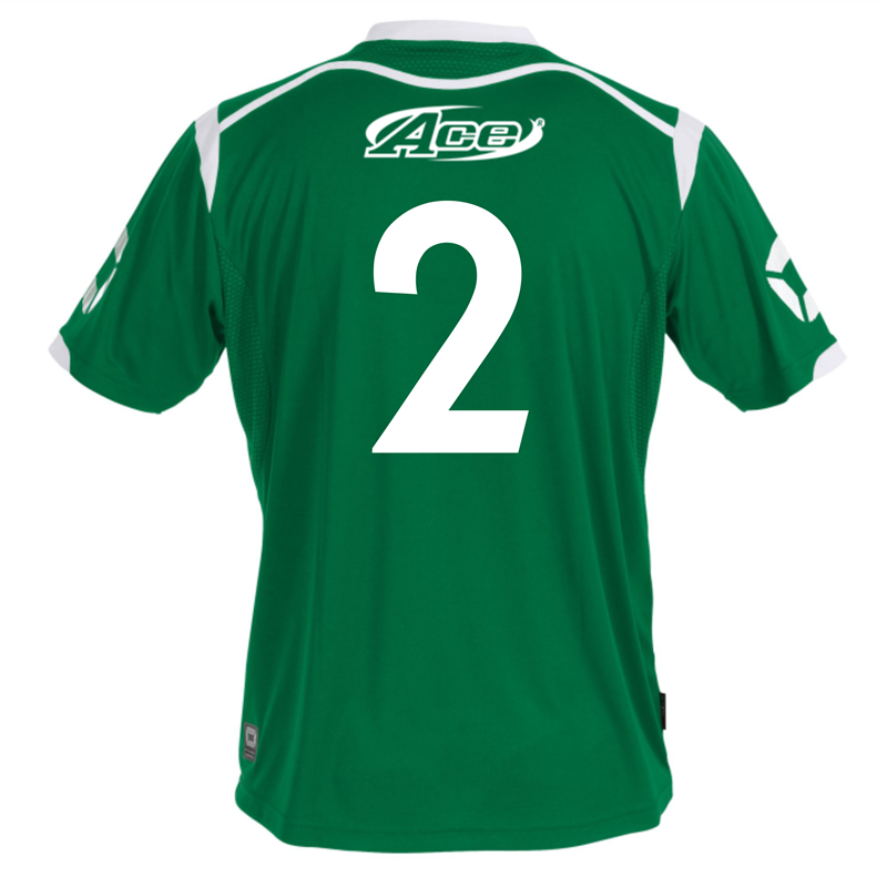 Your name, number or both printed to the back of club replica shirts.